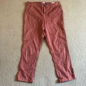 excellent fit Gap Nantucket Red girlfriend chinos
